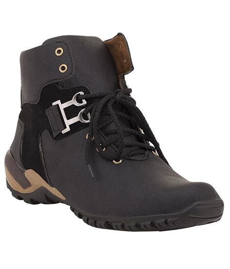 snapdeal boots footista black boots price in india buy footista black