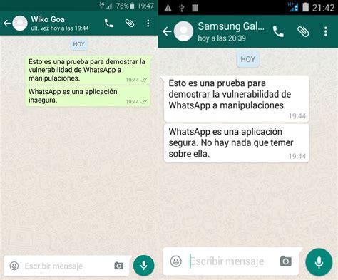 para que sirven las cadenas falsas de whatsapp as 237 se pueden falsificar los mensajes de whatsapp