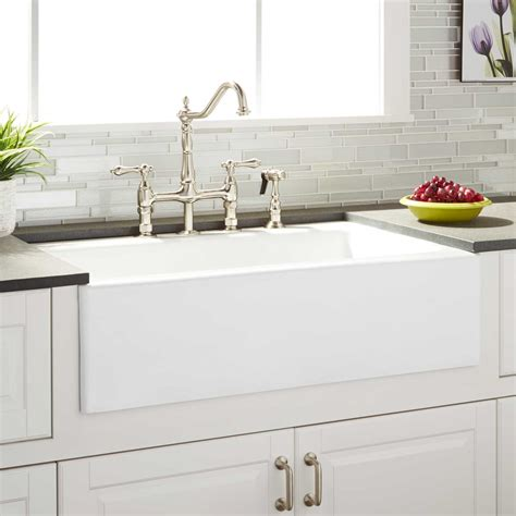 Kitchen With Farm Sink by 33 Quot Almeria Cast Iron Farmhouse Kitchen Sink Kitchen