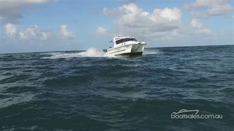 boat r noosa noosa cat 3500 sports cruiser with 350hp v8 yamaha