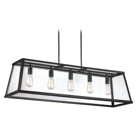 Rectangular Island Light Feiss Lighting Harrow Rubbed Bronze Island Light With Rectangle Shade F3073 5orb