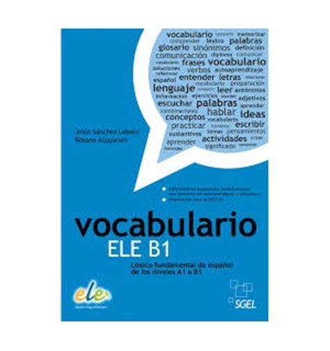vocabulario ele b1 espiral libros