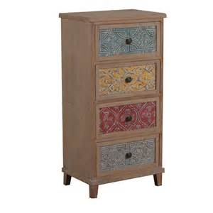 multi colored chest of drawers molly multi colored 4 drawer accent chest ebay
