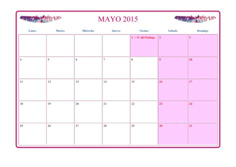 Calendã Mãªs De Maio Calendario 2015 Para Descargar Efem 233 Rides En Im 225 Genes