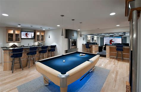 modern basement 27 stylish basement bar d 233 cor ideas digsdigs