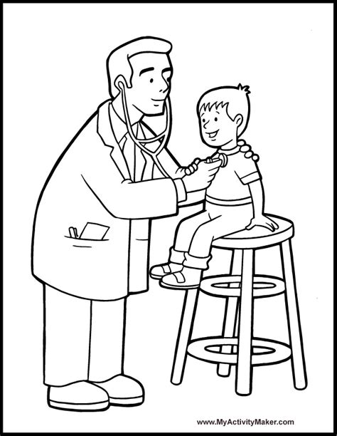 Coloring Pages People My Activity Maker Doctor Colouring Pages