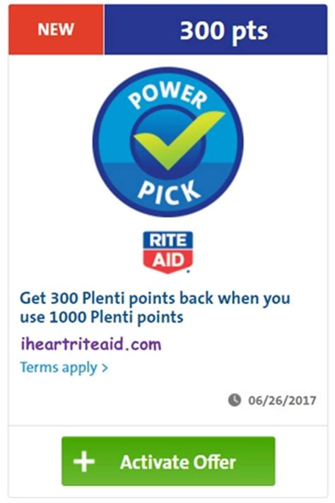 Use Plenti Points To Buy Gift Cards - i heart rite aid 300 pts when you use 1000 pts offer exp 06 26 17