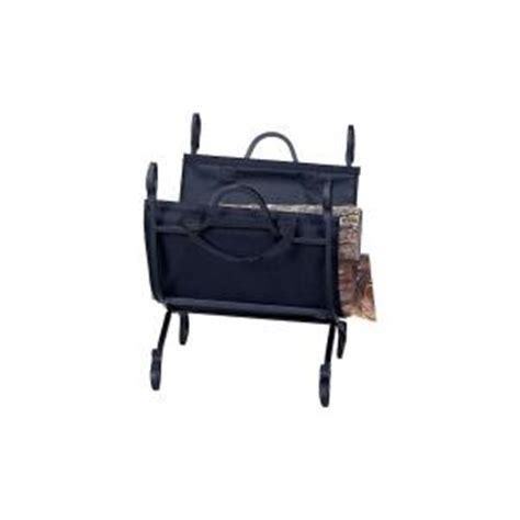 uniflame decorative firewood rack with removable canvas
