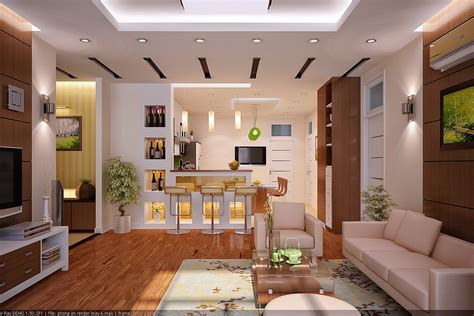 open living room design interior rendering by vu khoi