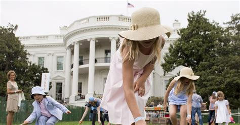 first white house easter egg roll white house easter egg roll photos president trump