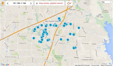 map of allen homes for sale in allen