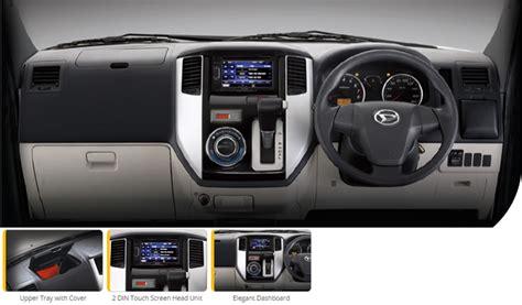 Daihatsu Luxio Interior by Spesifikasi Daihatsu Luxio Mobil Pedia