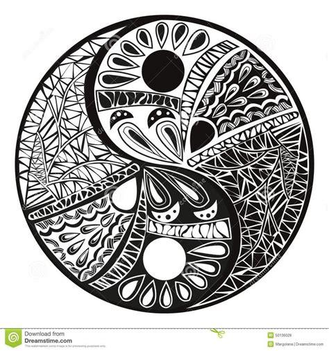 yin yang symbol tattoo design mandale wzory do druku szukaj w mandala czarno
