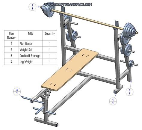 bench press plan olympic flat bench press plans