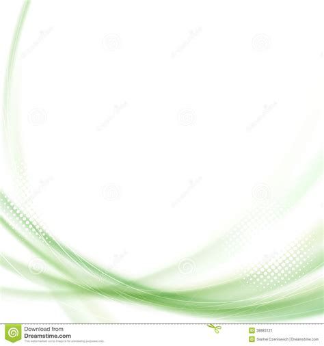 satin green swoosh line background stock vector image
