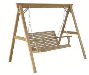 Patio Swing With Frame Amish Handcrafted Pine Outdoor Swing Frame For 4 Swing
