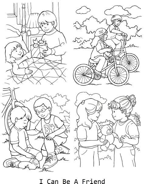 i can be a friend coloring page for lesson 33 lds