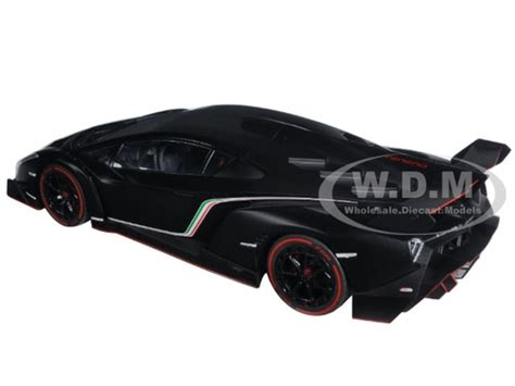 lamborgini veneno black with line 1 18 diecast model car kyosho 09501
