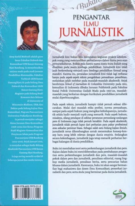 Buku Pengantar Ilmu Jurnalistik Prof Dr Asep Saeful Muhtadi M A bukukita pengantar ilmu jurnalistik toko buku