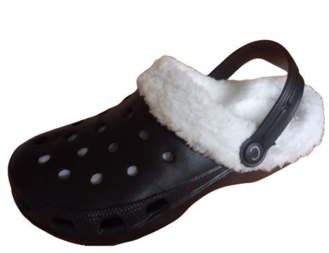 Slippers Sandals Mules And Clogs Garden Shoes White fur lined clogs winter mules plastic rubber garden