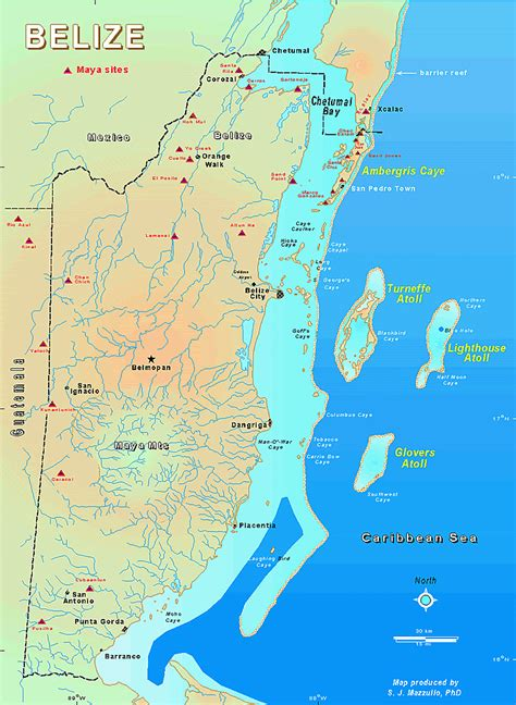 tourist map of belize belize detailed maps topography maps belize island maps