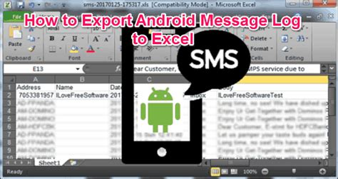 android timer exle how to export android messages to excel