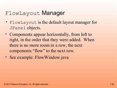 default layout manager java cso gaddis java chapter7