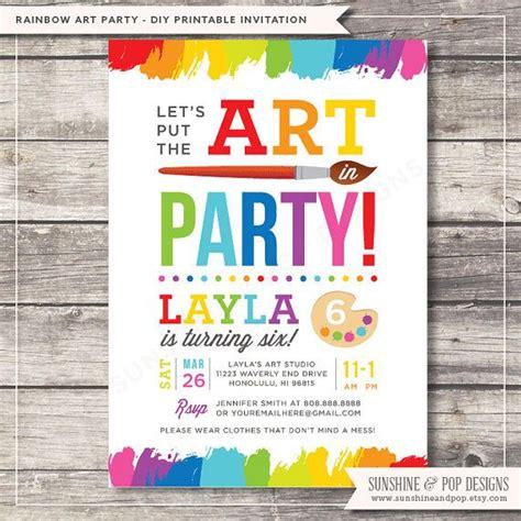 best 25 art party invitations ideas on pinterest paint