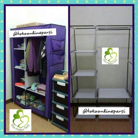 Lemari Baju Rak Serbaguna Portable jual lemari kain rak baju pakaian kain portable non woven toko parsi