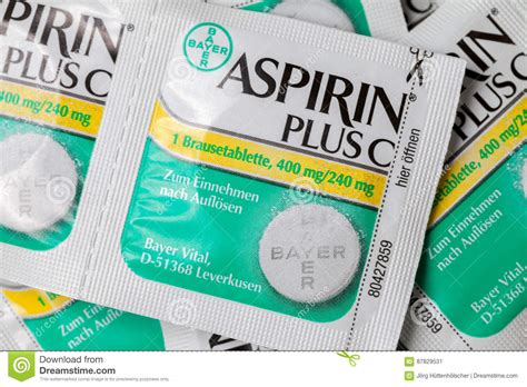Nsaids Also Search For Aspirin Plus C Headache Pills Lies On Brown Background Editorial Photo