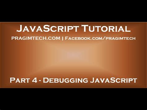 javascript tutorial by kudvenkat how to debug javascript in visual studio youtube