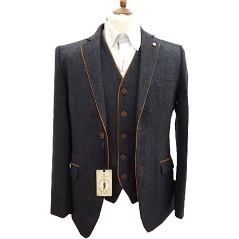Kaos One 83 cavani kaos 3 suits plain tweed regular fit blazer navy