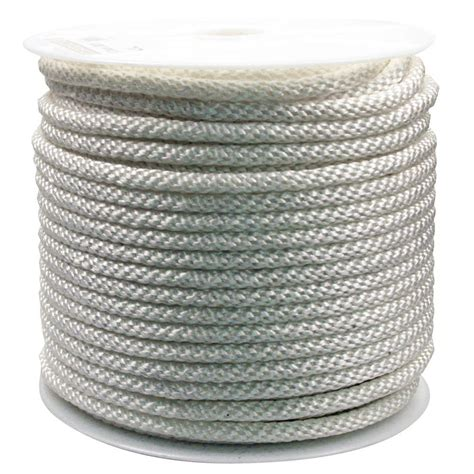 rope king 1 2 in x 300 ft solid braided rope white