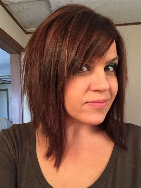 brunette thin hairstyles shaggy brunette long bob texturized chocolate brown