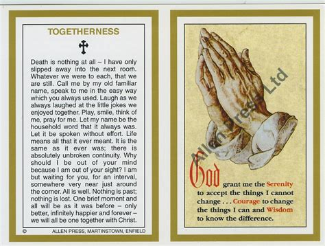Memorial Cards Templates Funeral by Memorial Cards Allen Press