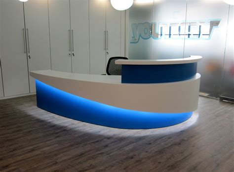 Futuristic Kitchen Designs by Reception Led Display Sdl Lighting