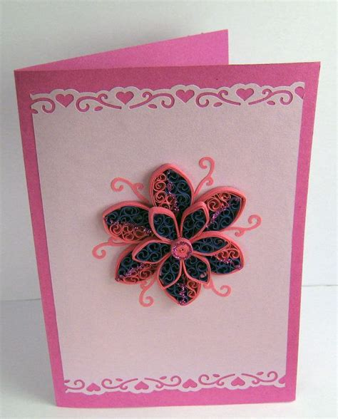Birthday Handmade Greeting Cards - handmade greeting card quilling birthday card for