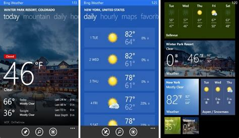 bing weather app windows phone top weather apps on windows phone for design inspiration