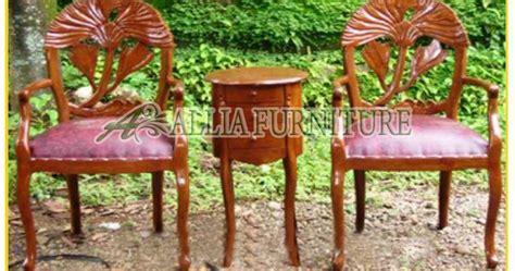 Kursi Kayu Untuk Teras Rumah meja kursi teras ukiran teratai allia furniture