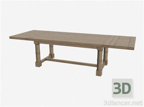 3d Dining Table 3d Model Dining Table Taunton 301 001 Manufacturer Gramercy Home Id 16560