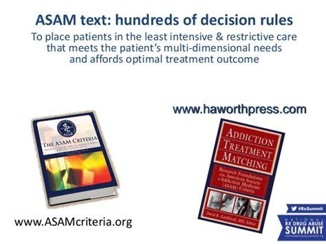 Asam Criteria For Ambulatory Detox by Rx15 Treat Wed 1230 1 Gitlow 2gastfriend