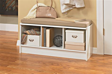 closetmaid bench cushion closetmaid 1569 cubeicals 3 cube storage bench white ebay