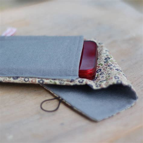 Handmade Phone Covers - handmade grey linen phone by handmade at poshyarns
