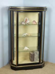 pier one corner cabinet ebonised glazed pier cabinet vitrine antiques atlas