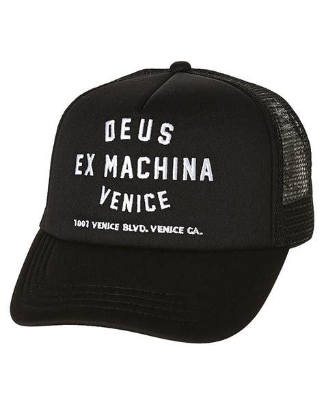 Topi Trucker Deus Ex Machina Vinece new deus ex machina s venice address trucker cap mesh black 9342689151071 ebay