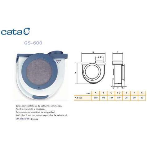 extractores de cocina cata extractor cocina cata gs 600 electrodomesta