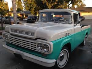 1959 Ford Truck Cruisin Smooth In This 1959 Ford F 100 Ford Trucks