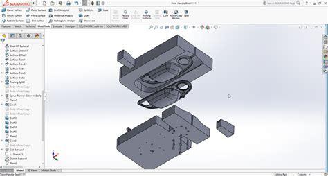 core cavity  door handle bezel  cad model library
