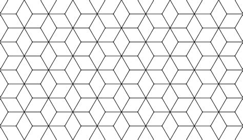 black hexagon pattern hexagonal cube pattern thingie by black light studio on