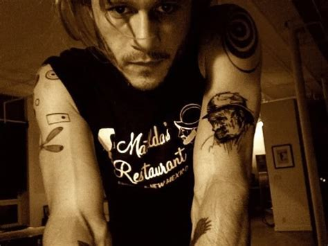 heath ledger tattoos heath s tattoos